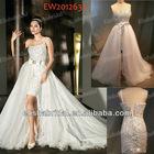 Short/Mini One Shoulder Full Sequines Beaded Wedding Dresses Removable Skirt