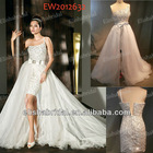 Short/Mini One Shoulder Full Sequines Beaded Wedding Dresses Removable Skirt