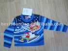 kids holiday clothing 5gg intarsia sking snowman ramie cotton knitted boy's sweater pullover BS-684