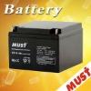 Safe & Reliable 12v26ah of 12v rechargeable valve regulated lead acid battery