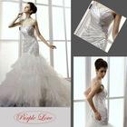 One Shoulder Strap Mermaid Train Taffeta&Crumple tulle Wedding Dress HT-0825