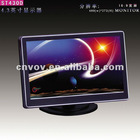 "4.3"" LED digital screen 2 Video input 1 Audio output table model with electroplate and mirror"