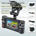 Lowest price dual lens CMOS Night vision dvr car