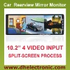Car Video Rearview Mirror lcd monitor DH-1028N
