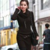 2012 Lady turtleneck long pattern blank sweater