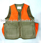 blaze orange hunting load vest