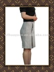 New Fashion Style Linen Yarn Dyed Skirts For Ladies