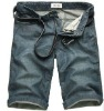 summer men's jeans for washing and wrinkled