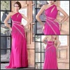 2013 Sexy Hot Pink One Shoulder Chiffon Long Formal Evening Dresses For Woman