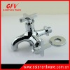 brass double water faucet