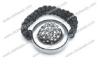 Gray Crystal Pave Argil Beads Shamballa Rings