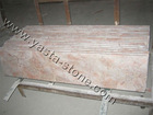 red beige marble stair