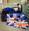 2012 Men' s leather bag set--tote&shoulder bag set