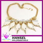 alloy rivet natural stone necklace make stone necklace