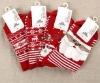 2012 hot sale Red And White Santa Snowman Plush Christmas Stocking