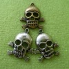 Small metal skull ornament,lanyards metal skull