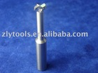Long shank carbide T slot cutter for graphite