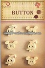 Shaped Christmas wooden buttons