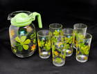 flower shape glass tea pot tea set tea cup flower pot