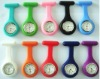 Hot Sale Silicone Nurse Brooch Watch,Jelly Quartz Watch,Nurse Pocket Watch,12 Colors Available