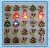 Christmas Santa Claus flash brooch / Christmas supplies LED Brooch LED badges for party toys