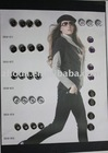 Fashion designer shirt buttons