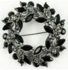 Black cheap rhinestone brooches and pins