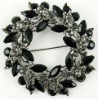 Black cheap rhinestone brooches and pins