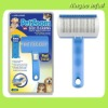 Pet Zoom Self Cleaning Grooming Brush with Bonus Pet Trimmer for both dogs & cats