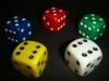 Acryl casino dice