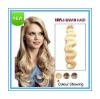 High quality Peruvian human hair weave ,loose wave natural color