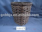 Brown heart shaped paper rope weave iron frame storage scrap basket