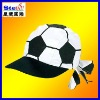 ST-H1203# fancy football caps white and black color polyester/cotton