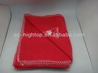 Cheap Polar Fleece Throw Blanket with decorative stitch