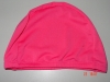 Pink color adult polyester fabric swimmingcap