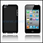Black Rubberized Hard Case for iTouch 4