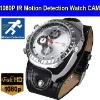 1920*1080 Full HD Motion Detection IR Night Vision Watch Camera