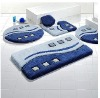 Multi color memory foam bath mat