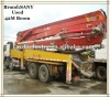 42M Used Second Hand Boom Sany Concrete Pump Truck,ISUZU Chassis
