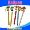 cartoon wooden ballpoint pen for gift