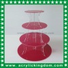 4 Tier Acrylic Red Round Cupcake Stand