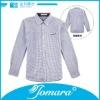 Fashion stripes lapel collar kids shirt,banded collar shirts