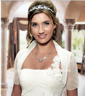 2011 white hot sale short sleeve organza bridal wedding jacket bridal bolero JK013