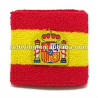 Spain Country Flag Cotton Sweatband