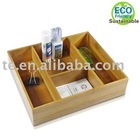 Bamboo storage box organizer,EC0-Friendly organizer,Recycled organizer,desktop organizer,retractable storage box organizer