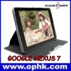 360 degree rotating stand leather case for google nexus 7 tablet pc case