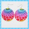 DKE133 elegant round colorful shell conch earrings
