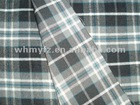 twill cut velet check woolen overcoating fabric for men clothes