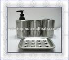 Stainless steel bathware set