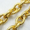 Gold Aluminium Chain for Jewelry Necklace and Bracelet